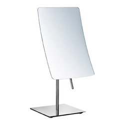 Nameek's - Rectangle Chrome 3x Makeup Mirror - This single face makeup mirror has a 5.9 inch width and a 8.9 inch height. The mirror has a 3x magnification and is made from high quality brass. This contemporary style mirror has an Italian design and is available in a chrome finish.