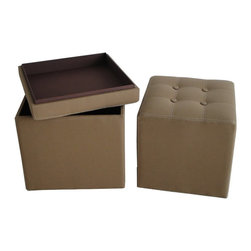 Screen Gems - Valencia Canvas Ottoman with Storage - A storage box that doubles as an ottoman is a genius addition to your modern home. Use it in your den to hold paperwork or in the living room to keep magazines and the remote controls. You'll find countless reasons to put this piece to work throughout your home.