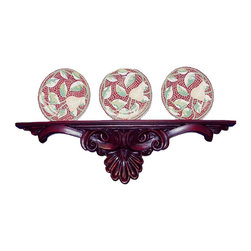 Hickory Manor House - Scroll Shell Plate Holder in Napoleon Finish - Plates not included. Vintage original. Custom made by artisans unfortunately no returns allowed. Enhance your decor with this graceful plate holder. Made in the USA. Made of pecan shell resin. 34 in. W x 2 in. D x 8.5 in. H (7 lbs.)
