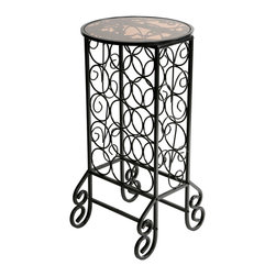 Holly & Martin - Monterey Glass Top Wine Table - This wine rack makes itself indispensable by taking you from bottle to glass in moments. Just pick a bottle and pour a glass on the serving area that's conveniently perched atop your stash. Magic!
