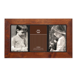 """Origin Crafts - Adler walnut 3 picture collage frame (4x6) - Adler Walnut 3 Picture Collage Frame (4x6) Natural ash wood, heavily grained finish, black inner border accent, wall hangers. 3-opening (holds 4x6"""" photos) By Prinz - Prinz is a leading supplier of picture frames. At Prinz they are committed to offering unsurpassed design, quality, and value. Ships within five business days."""