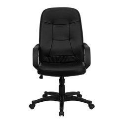 Flash Furniture - Flash Furniture High Back Glove Vinyl Executive Office Chair in Black - Flash Furniture - Office Chairs - H8021GG - Very affordable computer chair that will provide you with the right amount of comfort needed for browsing the internet and completing work related tasks. Chair provides passive ergonomic seating with built-in lumbar support. [H8021-GG]
