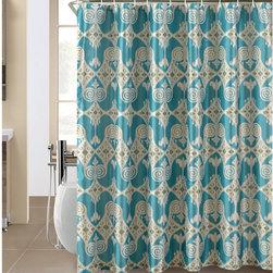 Iris Shower Curtain and Hook Set -
