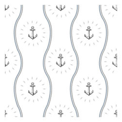 """Anchors Away Wallpaper, Sail, 25"""" X 4.5' - """"Swag Paper - Empowering the Do-It-Yourselfer:"""