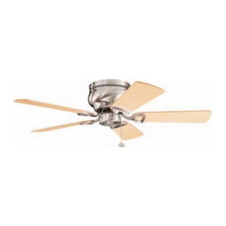 Kichler Lighting - Kichler 42-Inch Ceiling Fan with Five Blades - 339017BSS - Transitional brushed stainless steel indoor ceiling fan. Hugger style ceiling fan to mount flush to the ceiling for a low profile. UL listed. Dry location rated.