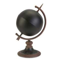 iMax - Chalkboard Globe Decor - Create your own planet by adding your own unique view of the world to this chalkboard globe.