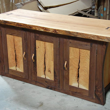 Office Cabinet in Cherry and Walnut -