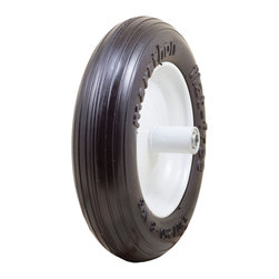 "Marathon Industries - Flat Free Wheelbarrow Tire with Ribbed Tread, 3.50/2.50-8"" - Marathon Industries 3.50/2.50-8"" Flat Free Residential Wheelbarrow Tire"