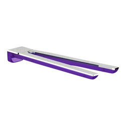 Gedy - Lilac and Chrome 13 Inch Wall Mounted Double Swivel Towel Bar - Keep your master bath looking modern & contemporary with this designer-quality 13 inch towel rack from the Gedy Bijou collection. Easily mountable, this towel hanger is made in high-quality cromall and thermoplastic resins and a transparent lilac/chrome f