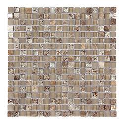 Stone & Co - Stone & Co Mosaic Glass and Stone Mix 5/8 x 5/8 Glass Mosaic Tile Mag 4428 SQ - Finish: Polished / Shiny / Matt