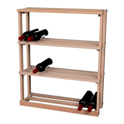 Wine Cellar Innovations - Traditional Series Rectangular Bin Wood Case for 69 Bottles - The Redwood & Pine Rectangular Bin Wood Case wine rack is for use below the Redwood & Pine tabletop. Assembly required.