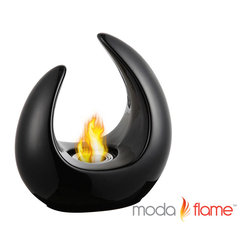 Moda Flame - Moda Flame Pinto Tabletop Bio Ethanol Fireplace Black - Enjoy your own tabletop fireplace anywhere, indoors and out. With the Pinto contemporary bio ethanol tabletop fireplace, add ambiance to any setting. Includes ceramic base, snuffer and ethanol burner cup. Use with Moda Flame ethanol fireplace fuel only.