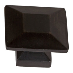 "GlideRite Hardware - GlideRite 1-3/8"" Square Knob Oil Rubbed Bronze - Upgrade your cabinets with this classic square oil rubbed bronze knob. Each knob is individually packaged to prevent damage to the finish. A standard installation screw is included."