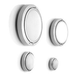 Metropoli D20 Wall Lamp \ Sconce By Luceplan Lighting - Metropoli D20/17 from LucePlan is the smallest unit of the Metropoli series.
