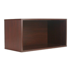 """Organize It All - 30"""" Open Storage Cube in Cherry - The Cube Collection gives you the option to build your own organizational system.   Choose from any combination of cube designs and stack them any way you like.   This particular piece is the 30"""" Open Storage Cube.   MDF construction in a cherry glossy finish.   Check out more items from the Organize It All Cube Collection."""