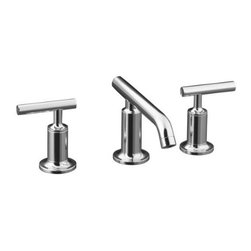 KOHLER - KOHLER K-14410-4-CP Purist Widespread Lavatory Faucet - KOHLER K-14410-4-CP Purist Widespread Lavatory Faucet with Low Spout and Low Lever Handles in Polished Chrome