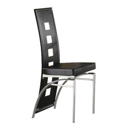 "Coaster - Dining Chair (Black) By Coaster (Set Of 2) - Dimensions: Width: 16"" x Depth: 20.5"" x Height: 41"""