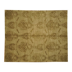 1800-Get-A-Rug - Modern William Morris Design Hand Knotted Rug Wool and Silk Sh7327 - About Modern & Contemporary