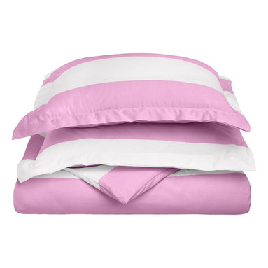 "Cotton Rich 600 Thread Count Cabana Kids Duvet Cover Set - Twin - Lavender - This Cotton Rich Duvet Cover set features bright cabana colors and child friendly sizes. Our 600 Thread Count Cotton Rich Cabana Kids Duvet Cover Set is a superior quality blend of 55% Cotton and 45% Polyester making these duvets soft, wrinkle resistant, and easy to care for. Set includes: Duvet Cover: 68"" x 86"" and Pillow Sham: 20"" x 26""."