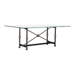 """GILANI - Chelsea Dining Table Base - Chelsea Dining Table Base (Large). Style no: DT96811. 57""""w x 28""""d x 29 1/2""""h."""