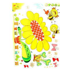 Blancho Bedding - Bee's Garden - Wall Decals Stickers Appliques Home Decor - The decals are made of a high quality, waterproof, and durable vinyl and will stick to any smooth surface such as walls, doors, glass, cabinets, appliances, etc. You can add your own unique style in minutes! This decal is a perfect gift for friend or family who enjoy decorating their homes. Imaginative art for you and won't damage your walls! Without much effort and cost you can decorate and style your home. Quick and easy to apply~!!!