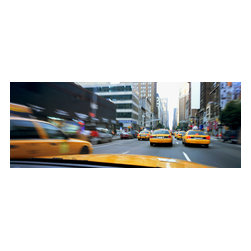 Custom Photo Factory - Taxis on the street in New York city Canvas Wall Art - Taxis on the street in New York city  Size: 20 Inches x 30 Inches . Ready to Hang on 1.5 Inch Thick Wooden Frame. 30 Day Money Back Guarantee. Made in America-Los Angeles, CA. High Quality, Archival Museum Grade Canvas. Will last 150 Plus Years Without Fading. High quality canvas art print using archival inks and museum grade canvas. Archival quality canvas print will last over 150 years without fading. Canvas reproduction comes in different sizes. Gallery-wrapped style: the entire print is wrapped around 1.5 inch thick wooden frame. We use the highest quality pine wood available. By purchasing this canvas art photo, you agree it's for personal use only and it's not for republication, re-transmission, reproduction or other use.