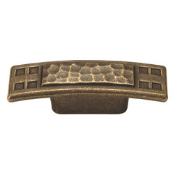 Hickory Hardware - Arts and Crafts Windover Antique Cabinet Pull - Refreshing in its simplicity, Rustic style highlights natural beauty and a rugged, resilient spirit.  Thanks to the unpretentious roots, organic textures, shapes and natural warmth, its become as popular in the heart of the city as it is out in the woods.