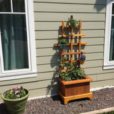 Traditional Outdoor Planters by Craft Wright Woodworking