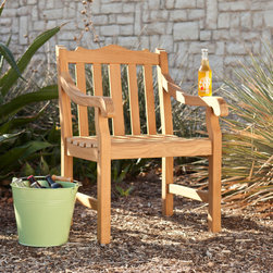 Upton Home - Upton Home Capstan Teak Outdoor Arm Chair - This distinctive form of this teak chair is perfect for accenting your outdoor or patio area,and works well with transitional to contemporary d�cor. The durable teak wood will provide elegant use for many years.