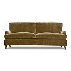Nassau Sofa - The Nassau sofa is a beautiful blendThe Nassau sofa is a beautiful blend of classic English design and modern conveniences. This sofa with rolled arms is destined to be the new classic.