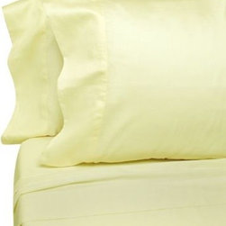 Eugenia Linens - Classic Bedding Ivory Solid Cotton 300 Sateen Full Flat Sheets (Set of 12) - Hotel-quality sheets are luxuriously soft to the touch. The attractive finished sheets with simple stitching will look great on any bed.