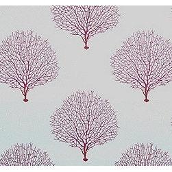 Tree Branch in Fuchsia - The fabric Tree Branch in Fuchsia