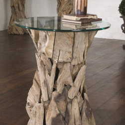 "25583 Teak Root, Lamp Table by uttermost - Get 10% discount on your first order. Coupon code: ""houzz"". Order today."