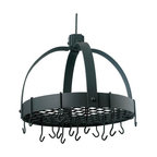 Old Dutch International - Dome Graphite Pot Rack w/Grid & 16 Hooks - This hanging rack has really got a hold on you — your pots and pans, that is. Stow your cookware safe and out of the way with this black, dome-shaped pot rack. Crafted from powder-coated steel, it's an attractive storage solution that will stay fashionable and functional for years to come.