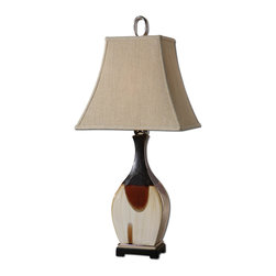 Uttermost - Multi Color Single Light Stained Ceramic Table Lamp - Multi Color Single Light Stained Ceramic Table Lamp
