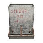 Pig Creep Feeder - Vintage galvanized Stewart pig creep feeder.