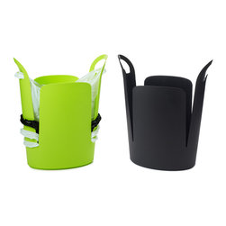 Urbano Eco Trash Can - These eco trash cans hold extra bags underneath, keeping things neat and tidy.