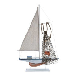 "Benzara - High Quality Wood Sailing Boat with Meticulous Sculpting - High Quality Wood Sailing Boat with Meticulous Sculpting. Add a dash of vibrancy and artistic appeal to your living room with this miniature sailing boat. It comes with the following dimensions: 13""W x 2""D x 22""H."