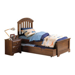 Standard Furniture - Standard Furniture Parker 3-Piece Kids Panel Bedroom Set with Trundle - Parker bedroom offers the perfect solution for rooms that have a smaller footprint, yet still need lots of storage.