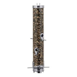 "Droll Yankees - BP9601403AER - Droll Yankees Tubular 6 Port Sunflower feeder 3-1/2"" diameter 20"" tube. Silver color  This item cannot be shipped to APO/FPO addresses. Please accept our apologies."