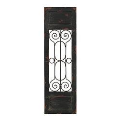 Sterling Industries - Sterling Industries 51-10131 Hopkinton-Metal Scroll Wood Set In Wood Wall Panels - Wall Panel (1)