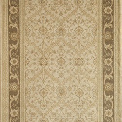 Rugs America - Peshawar Trellis Cream Brown Rectangular: 5 Ft. 3 In. x 7 Ft. 10 In. Rug - - Pashawar by Rugs America is an unparalleled collection which rivals the look and sophistication of the finest heirloom hand-made rugs in the world. With an exquisite combination of color?s and a unique texture of twisted yarns, this awe inspiring collection can replace the highest luxury floor covering at a fraction of the price. Machine Woven in Turkey.  - Machine Made 500,000 points, Heat-Set Poly, No Fringe  - Pile Height: 0. 5 Rugs America - 23810