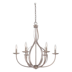 Quoizel - Quoizel Italian Fresco Mid. Chandeliers - SKU: SER5006IF - Feminine, airy and radiant are just a few words to describe the almost ethereal quality of the Serenity Chandeliers. The swirling fixture appears in motion and is enhanced by the stunning Italian Fresco finish.
