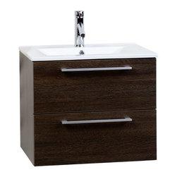 """CBI - ConceptBaths Caen 23.5"""" Wall-Mounted Bathroom Vanity ..."""