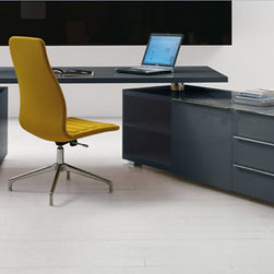 The Classy and Contemporary Cappellini Senior Desk - Concentrate on this. The Cappellini Senior desk manufactured by Poltrona Frau Group. A strong, sturdy design with fluid lines and beautiful finishes, the Cappellini Senior desk emanates strength and simplicity. Perfect for the home or the office the Senior desk provides the primary oasis to sit, study and succeed.