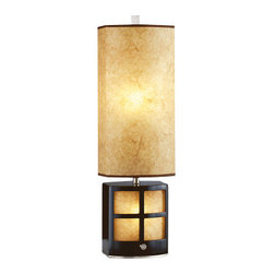 Nova Lighting - Nova Lighting 3474 28 Inch Accent Table Lamp From the Ventana Collection - 28 Inch Accent Table Lamp From the Ventana CollectionMission 5 Light Arc Featuring Antique Bronze With Tiffany Glass Shades