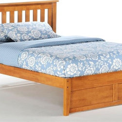 Night & Day Furniture - Rosemary Twin Platform Bed in Medium Oak (Twi - Choose Bed Size: TwinBed includes headboard, footboard, rail and slat. 100% Malaysian Rubberwood construction. Warranty: 10 years. Medium Oak finishBed dimensions:. Twin Headboard: 41.3 in. W x 44.7 in. L (22 lbs.). Twin Footboard: 16.3 in. W x 42.4 in. L (11 lbs.). Full Headboard: 41.3 in. W x 59.7 in. L (30.9 lbs.). Full Footboard: 16.3 in. W x 57.3 in. L (15.4 lbs.). Queen Headboard: 41.3 in. W x 65.7 in. L (35.3 lbs.). Queen Footboard: 16.3 in. W x 63.3 in. L (22 lbs.). Eastern King Headboard: 41.3 in. W x 81.7 in. L (39.7 lbs.). Eastern King Footboard: 16.3 in. W x 79.4 in. L (26.5 lbs.)Have you ever noticed that rosemary will grow nearly anywhere, in nearly any environment? And it adds great taste to whatever it's combined with. That's one attractive, tough and versatile ingredient. Similarities to our Rosemary bed are absolutely striking.
