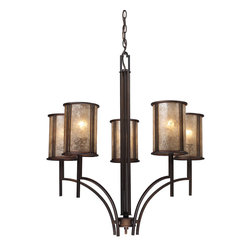 ELK Lighting - ELK Lighting 15035/5 Barringer 5 Light Chandeliers in Aged Bronze - This 5 light Chandelier from the Barringer collection by ELK will enhance your home with a perfect mix of form and function. The features include a Aged Bronze finish applied by experts. This item qualifies for free shipping!