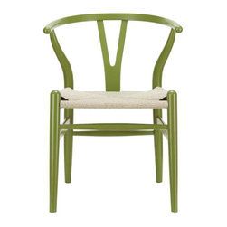Modway - Amish Dining Armchair in Green - Time flows effortlessly through the Amish wooden dining chair. The craftsmanship is evident throughout a piece that appears both petite and boldly courageous. While Amish conveys a transitional feel with its solid beechwood back and base, the result is an enduring design with a style that doesnt fade. Given the iconic form and staggered-level wooden support rods, Amish deftly develops the interplay between permanence and sequential movements forward. The seat is made of paper rope, a new twine that is eco-friendly, soft, anti-static and durable.