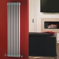 Hudson Reed - Traditional Vertical Radiator Cast Iron Style White 59 x 14.2 & Valves - This cast iron style radiator, with a high quality white powder coat finish (RAL 9016), has 8 vertical triple columns that give a outstanding heat output of 1,832 Watts (6,246 BTUs), ample to warm a room quickly and effectively.When combined with a set of modern valves, this up-to-date version of a classic radiator design is an ideal complement to contemporary settings, but also fits in well with traditional décor. This versatile radiator is compatible with all domestic central heating systems, will connect with your existing pipe work and is supplied complete with a wall mounting kit. For a truly authentic look, combine this traditional-style radiator with a Hudson Reed floor mounting kit (TRUSH017).Traditional Column Radiator Cast Iron Style White 59 x 14.2 Details    Dimensions: (H x W x D) 59 (1500mm) x 14.2 (360mm) x 4 (100mm)    Projection When Fitted: 5.1 (130mm)    Output: 1,832 Watts (6,246 BTUs)    Material: Steel    Finish: White Powder Coat (RAL 9016)    Columns: 8 x 3    Wall Mounting Brackets Included    Please note: Angled Radiator Valves are required, please choose either modern or traditional radiator valves.5 Year Warranty on materials and finish Please Note: Our radiators are designed for forced circulation closed loop systems only. They are not compatible with open loop, gravity hot water or steam systems.
